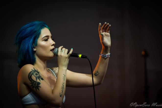 Young pop sensation, Halsey gets the crowd going early