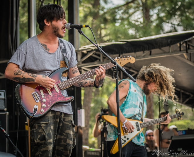 Wavves brought their California beach punk to the Boulevard Stage